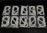 wholesale 10 strands 7-8mm white Cultured freshwater pearl Necklace