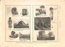 Feuillets Album du Sergent Bobillot  Siège de Tuyên Quang Chine GRAVURE 1885