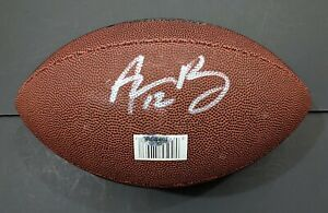 Aaron Rodgers Green Bay Packers Autographed Signed Football COA