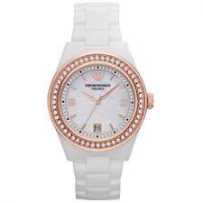 Emporio ARMANI Ar1472 Ladies White Ceramic Crystal Watch - 2 Year