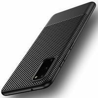 Samsung Galaxy S20 Hülle Schutzhülle TPU Silikon Case Schwarz Cover Carbon Optik