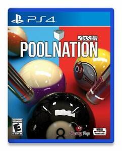 POOL NATION PS4! LEAGUES, SIMULATION, 8, 9 BALL, BLACKBALL, GAME PARTY NIGHT