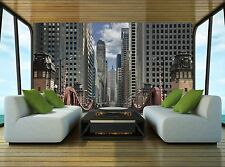 Street of Chicago Wall Mural Photo Wallpaper GIANT DECOR Paper Poster Free Paste