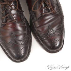 RARE SIZE Vintage Florsheim Imperial Shell Cordovan 93605 Wingtip Shoes 6.5 D