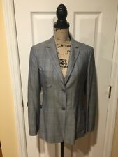 Luciano Barbera Made In Italy Cashmere Silk Blend Blazer Jacket Suit Coat 42 EUC