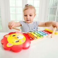 Lion Xylophone for Children Music & Art Wooden Educational Toys Musical Toys