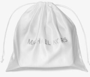 "Michael Kors Small Drawstring Dust Bag Ivory / Silver 13""x13"" 35S0PU0N1C FS"