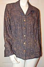 Coldwater Creek Blue Denim Embellished Design Jacket Sz 18W Ret $109.95