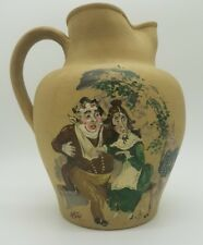 Antique Dee Cee Stoneware  jug hand painted signed