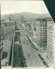 Aerial View of Store Fronts Salt Lake City Utah Original News Service Photo