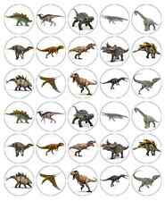 Dinosaurs Jurassic World Park Cupcake Toppers Edible Wafer BUY 2 GET 3RD FREE!