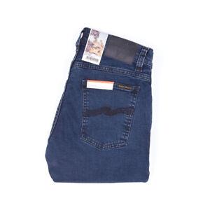 Nudie Jeans, Tight Terry, Black Ocean, Blau-Grau, 113185, Tight Anti Fit, Neu