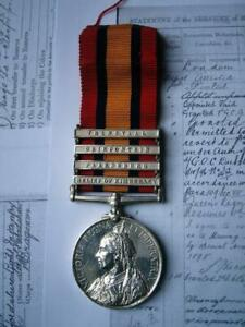 Victorian Boer War QSA medal Pte Bacon Oxfordshire LI from Chelmsford Essex