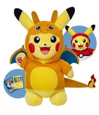 NWT Build A Bear Pikachu Web Exclusive Charizard Set AND Pokeball Hoodie and TCG
