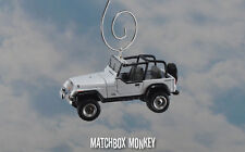 White 1994 Jeep Wrangler Custom Ornament 1/64 Adorno 4x4 Open Top YJ Sport Rio