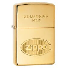 Collectable Gold Brick 999.9 High Polished Brass Zippo Lighter 77190