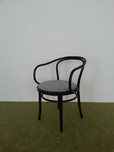 Original Michael Thonet armchair number 30 with upholstered seat