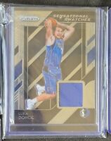 Luka Doncic 2018-19 Panini Prizm Sensational Swatches Jersey Rookie RC #87