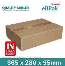 50x Mailing Box 365x280x95mm Brown Carton - Fit Australia Post 5kg Satchel Bag
