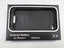 EXTERNAL PORTABLE BATTERY CHARGER CASE POWER PACK FOR IPHONE 4 1900MAH NEW