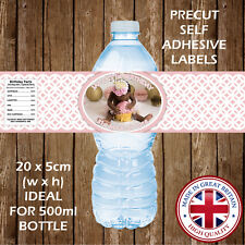 Personalised Christening Baptism Water Bottle Labels Favour Party Decoration