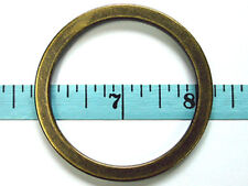 """AC32C-AB 50pcs 2""""x2-3/8""""x5mm ANTIQUE BRASS Alloy Flat O-rings round loop buckles"""