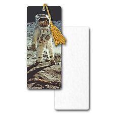 Bookmark Astronaut on Moon in Space Earth Book Mark 3D Lenticular #BM35X80-401#