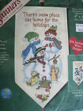 Dimensions Christmas Holiday Counted Cross Banner KIT,SNOW PLACE LIKE HOME,8626