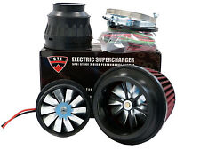 5PSI ELECTRIC SUPERCHARGER TURBO ADD HORSEPOWER + TORQUE INTAKE FOR FORD