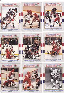 1991 OLYMPIC GOLD MEDAL 1980 HOCKEY TEAM 11 CARD SET ~ BROOKS ERUZIONE CRAIG QTY