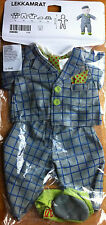 "Ikea Lekkamrat Grey Suit Set 5 Pcs. doll clothes boy 18"" shoe hat 3+ 602.230.45"