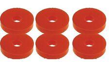 KART M6 Rosso rondella di gomma adatto a pavimenti VASSOI Confezione da sei nuovi KART Parts UK