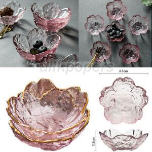 Sakura Glass Dish Bowl Fruits Cakes Desserts Serving Plate Home Seasoning Saucer