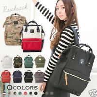 ANELLO Japan Unisex Handle Backpack Campus Rucksack Canvas School Bag MultiColor