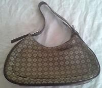 Nine West Brown & Tan Purse Adjustable Leather Strap Shoulder Bag Handbag