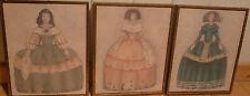 3 tableaux reproductions de princesses 21x26 cm très bon état