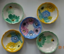 More details for 5 gray's pottery hand painted small bowls