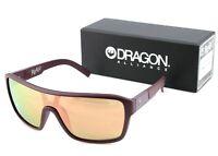 NEW Genuine DRAGON REMIX THE JAM Redwood Rose Gold Ion Shield Sunglasses DR 620