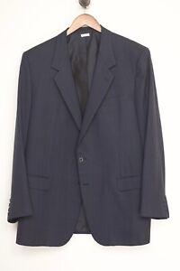 VTG Brioni Mens Sport Coat 48L Gray Brown Blue Red Stripe Jacket Made in Italy