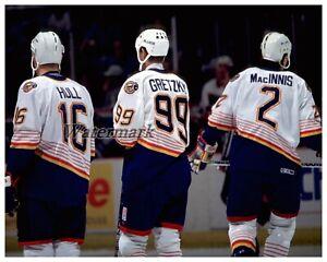 NHL St. Louis Blues Brett Hull Wayne Gretzky Al MacInnis 8 X 10 Photo Picture