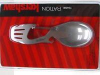 Kershaw Fork Spoon Ration Bottle Opener~Survival CarabinerTool~USA SELR~FAST S&H