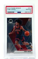 Coby White 2019-20 Panini Mosaic Rookie #211 RC PSA 10 Gem Mint Chicago Bulls