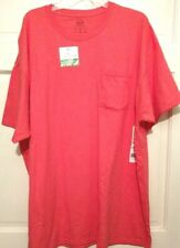 Mens T-shirt Orange Fruit Of The Loom Pocket Stretch Cotton Solid S/S NWT 3XL