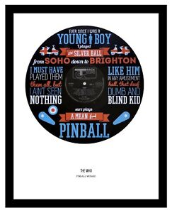 THE WHO - MEMORABILIA PINBALL WIZARD VINYL RECORD ART - Ltd Edition - Ideal Gift