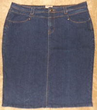 Sapphire Red Jeans Womens Blue Jean Denim Skirt Size 17/18 #4237