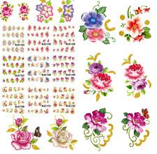 Nail Art Water Transfer Stickers-Decal-Adesivi Unghie-Glitter-Farfalle Fiori !!