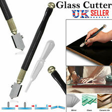 Diamond Tip Antislip Metal Handle Steel Blade Oil Feed Glass Cutter Tool Carbide