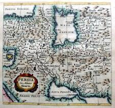 PERSIA IRAN  BY CLUVER / BERTIUS c1661 GENUINE 350 YEAR OLD ANTIQUE MAP