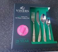 VINERS ORGANIC 16 PIECE STAINLESS STEEL CUTLERY SET GIFT BOX