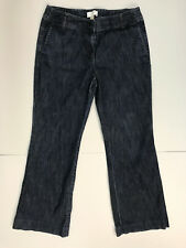 ANN TAYLOR LOFT Womens size 6 Dark Wash Relaxed Flare Jeans